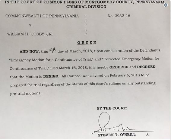 rejection of 90 day emergency continuance